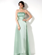 Empire Strapless Floor-Length Satin Bridesmaid Dress With Ruffle Beading (007001075)