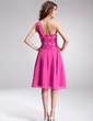 A-Line/Princess One-Shoulder Knee-Length Chiffon Homecoming Dress With Ruffle Beading (022010175)