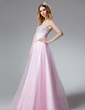 A-Line/Princess Sweetheart Floor-Length Tulle Quinceanera Dress With Beading (021020664)