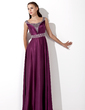 A-Line/Princess Floor-Length Charmeuse Evening Dress With Ruffle Sequins (017013101)