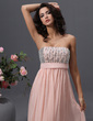 Empire Strapless Floor-Length Chiffon Prom Dress With Beading Sequins (018022745)