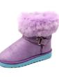 Süet Düz Topuk Ayak bileği Boots Kar Boots Ile Kürk ayakkabı (088057570)