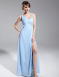 Empire Sweetheart Floor-Length Chiffon Evening Dress With Ruffle Beading Sequins Split Front (017014690)