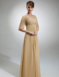 Empire V-neck Floor-Length Chiffon Mother of the Bride Dress With Ruffle Sequins (008005959)