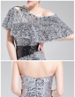 Sheath/Column Sweetheart Short/Mini Sequined Prom Dress (018019186)