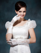 Elastic Satin Elbow Length Bridal Gloves (014020477)