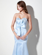 Empire Sweetheart Floor-Length Satin Prom Dress With Ruffle Beading Sequins Bow(s) (018004920)