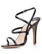 Women's Patent Leather Stiletto Heel Sandals Slingbacks shoes (087022637)