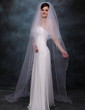 Two-tier Chapel Bridal Veils With Scalloped Edge (006013297)