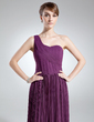 A-Line/Princess One-Shoulder Sweep Train Chiffon Mother of the Bride Dress With Pleated (008016020)