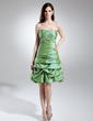 A-Line/Princess Sweetheart Knee-Length Taffeta Cocktail Dress With Ruffle Beading (016015678)