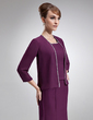 3/4-Length Sleeve Chiffon Special Occasion Wrap (013012482)