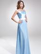 Sheath/Column Floor-Length Charmeuse Bridesmaid Dress With Sash (007016871)