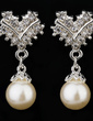 Gorgeous Pearl With Rhinestone Ladies' Jewelry Sets (011027179)