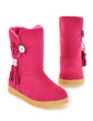 Suede Flat Heel Ankle Boots With Buckle shoes (088039617)