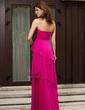 A-Line/Princess Sweetheart Floor-Length Chiffon Bridesmaid Dress With Cascading Ruffles (007027158)