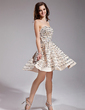 A-Line/Princess Sweetheart Short/Mini Satin Prom Dress With Beading Sequins (018019114)