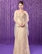 Sheath/Column Sweetheart Floor-Length Lace Mother of the Bride Dress With Beading Sequins (008018739)