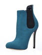Suede Stiletto Heel Closed Toe Ankle Boots shoes (088018024)