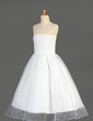 A-Line/Princess Ankle-length Flower Girl Dress - Organza Sleeveless Scoop Neck With Ruffles/Beading/Sequins (010014640)
