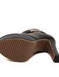 Suni deri Kalın Topuk Pompalar Platform Kapalı Toe Bot Ayak bileği Boots Ile Toka ayakkabı (088057544)