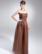 A-Line/Princess Sweetheart Floor-Length Organza Holiday Dress With Ruffle (020015029)