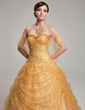 Ball-Gown Sweetheart Floor-Length Tulle Sequined Quinceanera Dress With Ruffle (021004561)