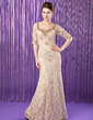 Trumpet/Mermaid Sweetheart Floor-Length Lace Mother of the Bride Dress With Beading Sequins (008018924)