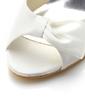 Women's Silk Wedge Heel Peep Toe With Bowknot (047039752)