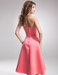A-Line/Princess Sweetheart Knee-Length Satin Bridesmaid Dress With Beading (007001911)