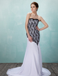 Çan/Prenses Kalp Kesimli Kısa Kuyruk Chiffon Lace Gelinlik (002011733)
