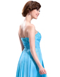 A-Line/Princess Sweetheart Floor-Length Chiffon Lace Prom Dress With Ruffle Beading (018019074)