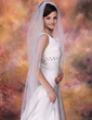 One-tier Waltz Bridal Veils With Pencil Edge (006020342)