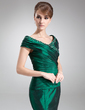 Trumpet/Mermaid Off-the-Shoulder Floor-Length Taffeta Mother of the Bride Dress With Ruffle Beading (008006494)