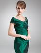 Syrena Off-the-ramię Do Podłogi Taffeta Suknia dla Mamy Panny Młodej Z Żabot Perełki (008006494)