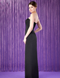 Sheath/Column Strapless Floor-Length Satin Mother of the Bride Dress (008018689)