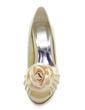 Satyna Obcas Stożkowy Z Odkrytym Palcem Buty na Platformie Sandały Z Satynowy Kwiat Buty Ślubne obuwie (047005115)