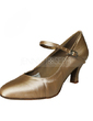 Women's Satin Heels Pumps Modern With Buckle Dance Shoes (053013034)