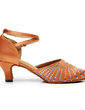 Women's Nubuck Heels Modern With Ankle Strap Dance Shoes (053057391)