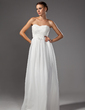 A-Line/Princess Sweetheart Floor-Length Chiffon Prom Dress With Flower(s) (018005109)