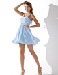 A-Line/Princess Sweetheart Short/Mini Chiffon Homecoming Dress With Ruffle Beading (022020975)