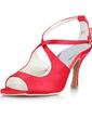 Saten Makara Topuk Sandalet Düğün Ayakkabıları Ile Toka (047011045)