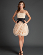A-Line/Princess Strapless Short/Mini Organza Homecoming Dress With Ruffle Sash (022015573)