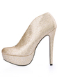 Women's Sparkling Glitter Stiletto Heel Boots Closed Toe Platform Pumps (047017457)