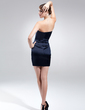 Sheath/Column Sweetheart Short/Mini Charmeuse Cocktail Dress With Beading (016020740)