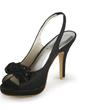 Dla kobiet Satin Szpilki Peep Toe Sandały Z Satynowy Kwiat (047011041)