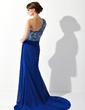 Çan/Prenses Tek-Omuzlu Kısa Kuyruk Chiffon Gelin Annesi Elbisesi Ile Büzgü Lace Boncuklama Pullarda (008006081)