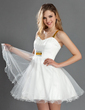 A-Line/Princess Sweetheart Short/Mini Tulle Homecoming Dress With Ruffle Sequins (022019589)