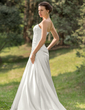 A-Line/Princess Sweetheart Sweep Train Charmeuse Wedding Dress With Ruffle Beading Appliques Lace Sequins (002011634)