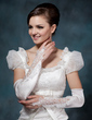 Elastic Satin Opera Length Bridal Gloves (014020514)